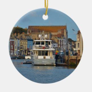 Ornement Rond En Céramique Yacht de moteur dans Weymouth