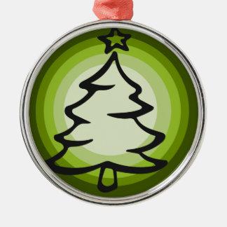 Ornement rond vert d'arbre de Noël