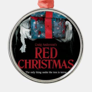 Ornement rouge d'arbre de Noël
