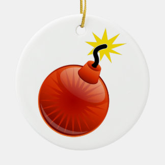 Ornement rouge de bombe : Soufflement- de