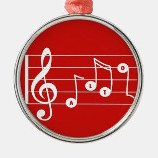 Ornement rouge de musical de chanteur d'alto