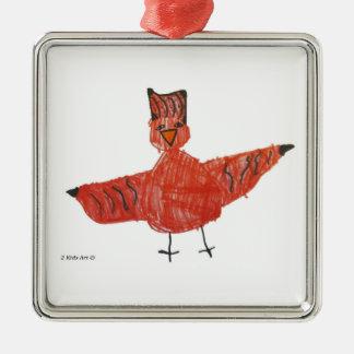 Ornement rouge de prime d'oiseau