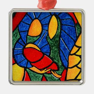 Ornement saint coloré de Noël d'abrégé sur famille
