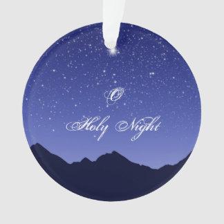 Ornement saint d'acrylique de nuit d'O