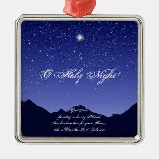 Ornement saint de Noël de carré de nuit d'O