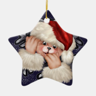 Ornement trois-étoiles d'ours de Noël