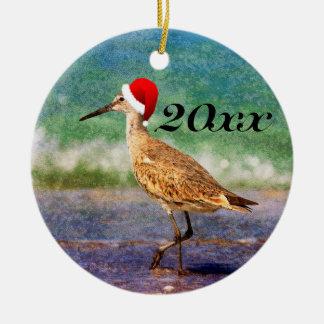 Ornement tropical de Noël de plage d'oiseau de
