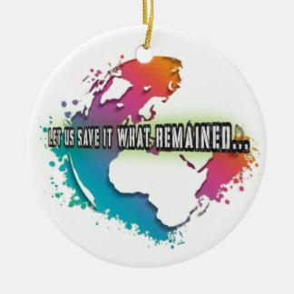 Ornement unique de cercle de jour de la terre