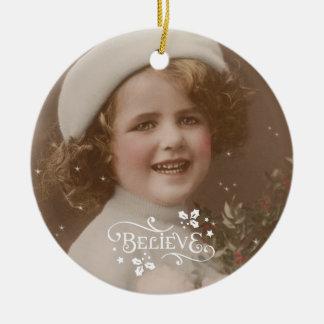 Ornement vintage d'arbre de Joyeux Noël rétro