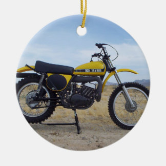 Ornement vintage de Noël de moto