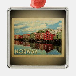 Ornement vintage de voyage de la Norvège