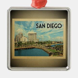 Ornement vintage de voyage de San Diego la