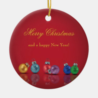 Ornements colorés de parties scintillantes de Noël