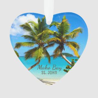 Ornements d'acrylique de St John de plage de baie