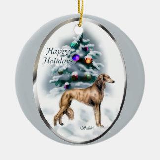 Ornements d'arbre de Noël de Saluki