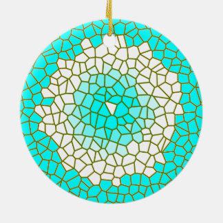 Ornements de motif de Design> en verre souillé de