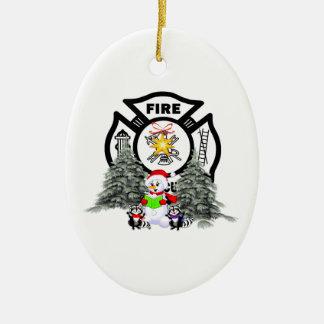Ornements de Noël de sapeur-pompier