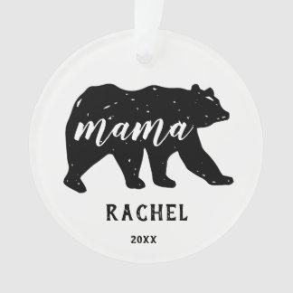 Ornements de vacances de maman Bear Forest Animal