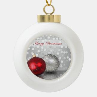 Ornements Shimmery de Noël - ornement en céramique