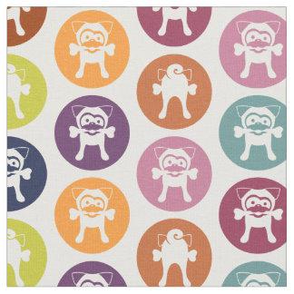 Os ! Copie de cercle (Tugg blanc sur le blanc) Tissu