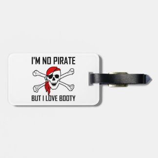 Os de croix de crâne de butin d'amour de pirate étiquette à bagage