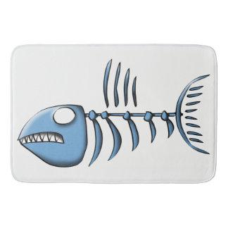 Os de poissons tapis de bain