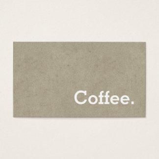 Cartes De Visite Os foncé de carte perforée de café de fidélité de