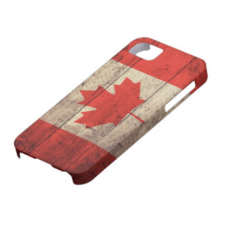 Oude Houten Canadese Vlag Barely There iPhone 5 Hoesje