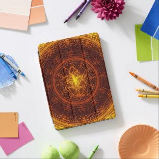 Oude vernietigde boom-oranje Gele Uitbarsting iPad Pro Cover