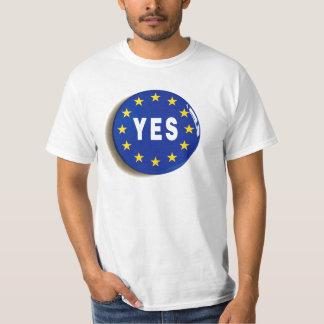 Oui à l'UE - séjour dans l'Union européenne T-shirt