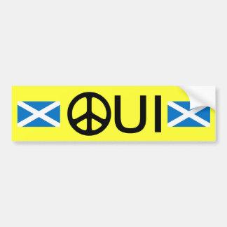 Oui aucun autocollant écossais de l'indépendance