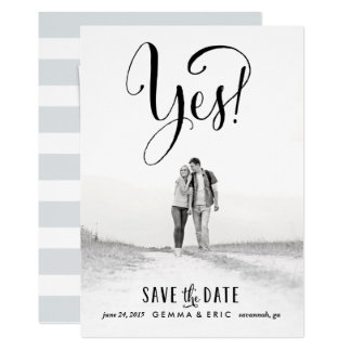 Oui économies de photo la carte de date carton d'invitation  12,7 cm x 17,78 cm