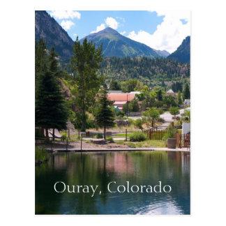 Ouray, carte postale de voyage du Colorado