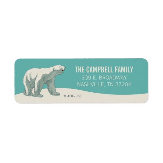 Ours blanc de vacances de Pôle Nord Étiquette D'adresse Retour