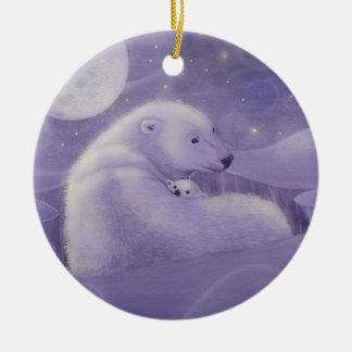 Ours blanc d'hiver doux et ornement de CUB
