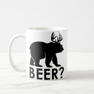 Ours + Cerfs communs = bière ?  Tasse de café
