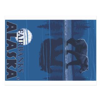 Ours dans le clair de lune - Fairbanks, Alaska Carte Postale
