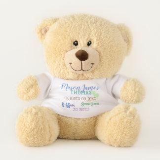 Ours de bébé de stat de naissance nouvel