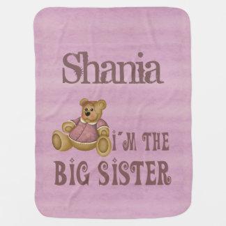 Ours de fille de grande soeur couvertures pour bébé
