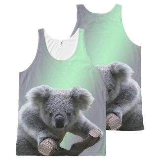 Ours de koala débardeur tout-imprimé
