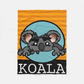 OURS DE KOALA MIGNON AVEC LA COUVERTURE D'OUATINE