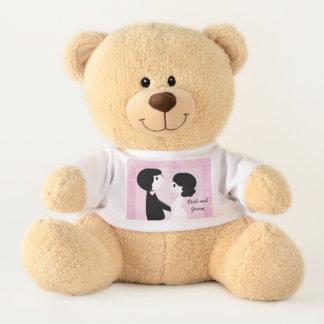 Ours de nounours de jeunes mariés