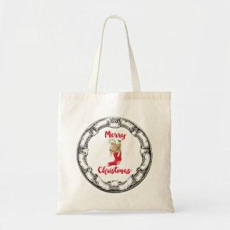 Ours de nounours de Joyeux Noël dans le cadre Tote Bag