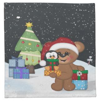 Ours de nounours de Noël Serviettes De Table