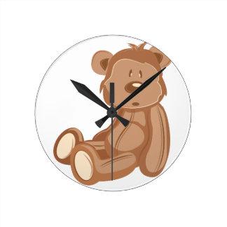 Ours de nounours horloge ronde