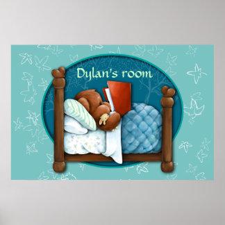 Ours de nounours lisant une histoire pour endormir