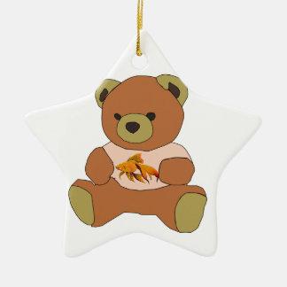 Ours de nounours ornement étoile en céramique
