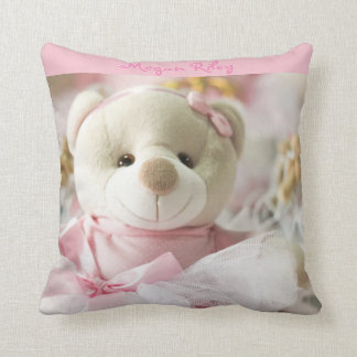 Ours de nounours rose de bébé de carreau coussin