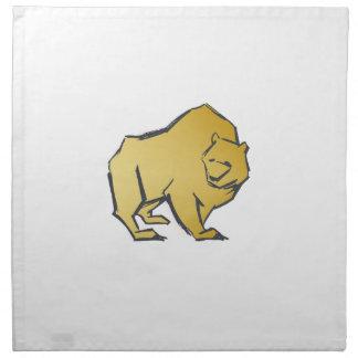 Ours d'une manière élégante luxueux d'or serviettes en tissus