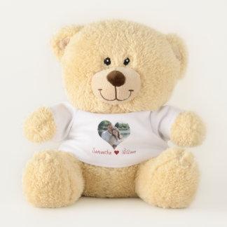 Ours En Peluche Cadre de coeur d'amour personnalisé